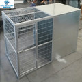 heavy duty galvanized dog kennel with roof and protected sleeping area