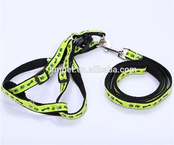 Pet Product High Quality Beautiful Polyester Pet Leash Dog Leash with Harness