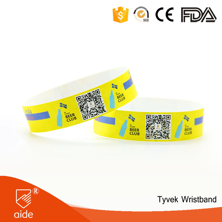 AIDE High Quality Water Proof Paper Disposable Event Wristbands Photos Wrist Band