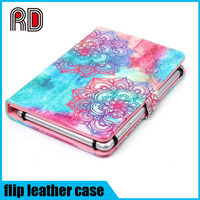 "Aqual floral flowers print universal pu leather flip stand cover case for 7"" Android tablet"