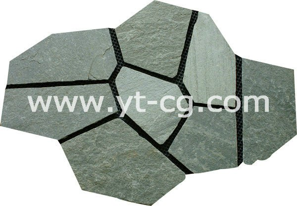 flagstone paver on the mesh