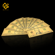 America 10 USD DOLLAR Gold Banknote Collection for business gifts or game money