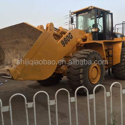Used machine Cat 980g 966f 950b 936e 966c 950h wheel loader for sale cheap price Shanghai