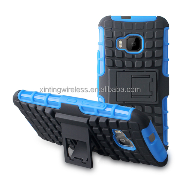 The Stand Protective PC+TPU Combo Phone Case Cover For Htc one m9