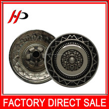 Custom 19.5mm decorative craft all types clothes metal snap fashion buttons for garments