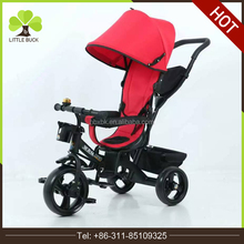 new model 4 in 1 baby type 360 degree rotating seat baby tricycle 2016 kids with canopy