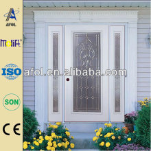 steel entry door glass insert