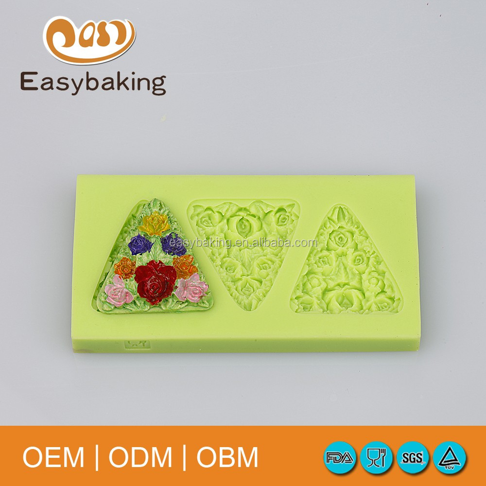 3D flower fondant silicone baking mould /siliocne material and mould cake tools