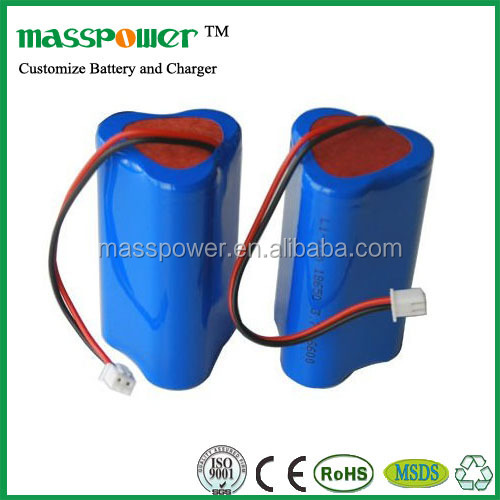 Shenzhen Factory Custom voltage capacity 12v rechargeable lithium ion battery