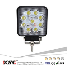 Offroad Led High Power Car Off Road Truck 10-30v 27w Suv 180 Degree Heavy Duty Spot Flood Beam 4.3inch Square Lamp Work Light