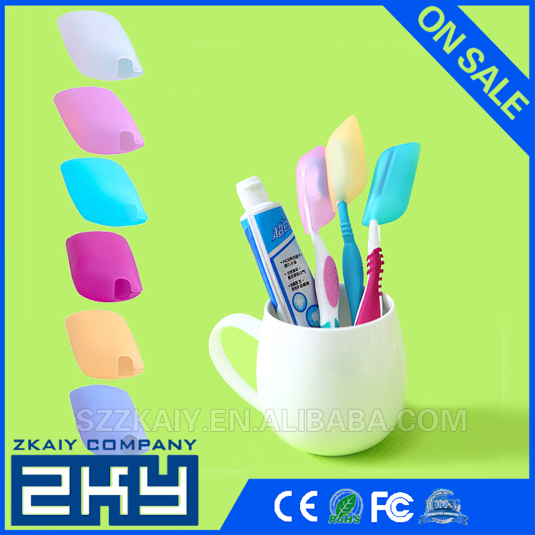 100% Top Good Portable Silicone Soft Travel Camping Holding Toothbrush Head Case Cover Protective Caps Keep Tidy Clean