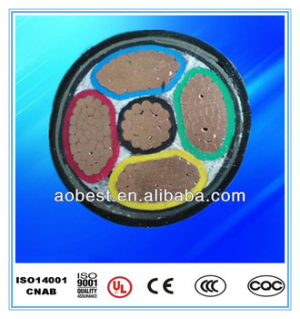 Supply Factory price 0.6/1KV 5x4mm2 Copper CONDUCTOR SWA steel wire PVC insulated power cable