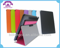 New design Sound Enhancer leather tablet smart case for ipad air minion cases hockproof case for tablet