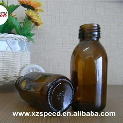 100ml amber syrup medicine liquid glass bottle with screw cap