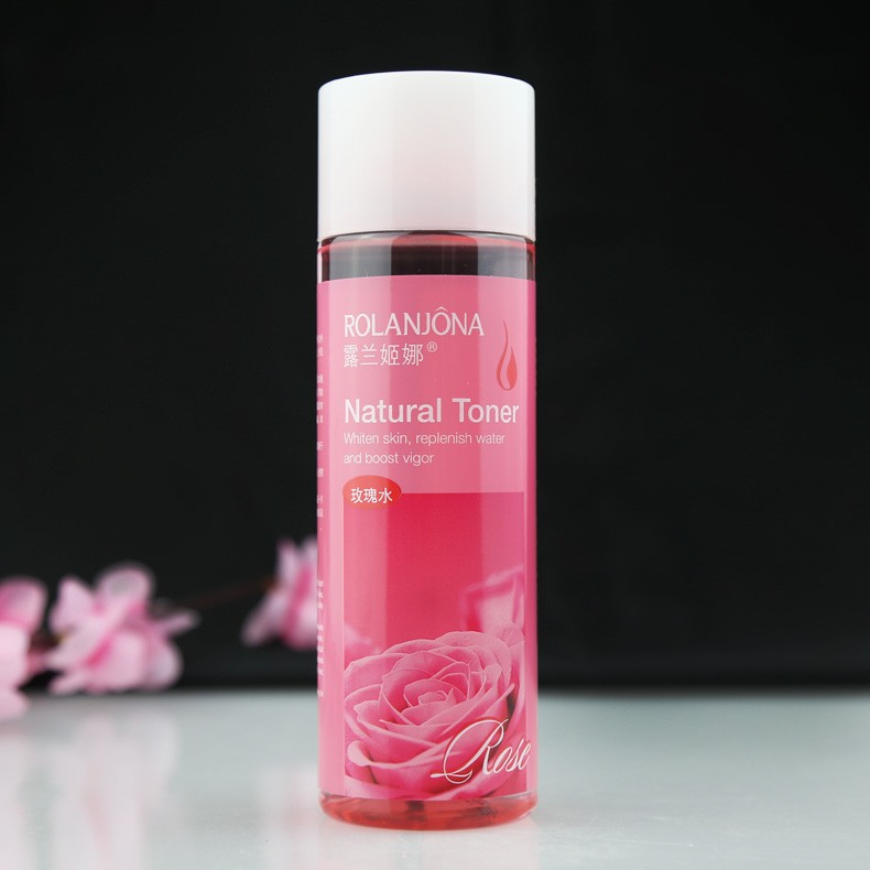 A01661 215ML Skin toner Natural rose water Whiten Skin Brighten Hydrating Relieve Shrink Pores Essence Water Skin Care Beauty