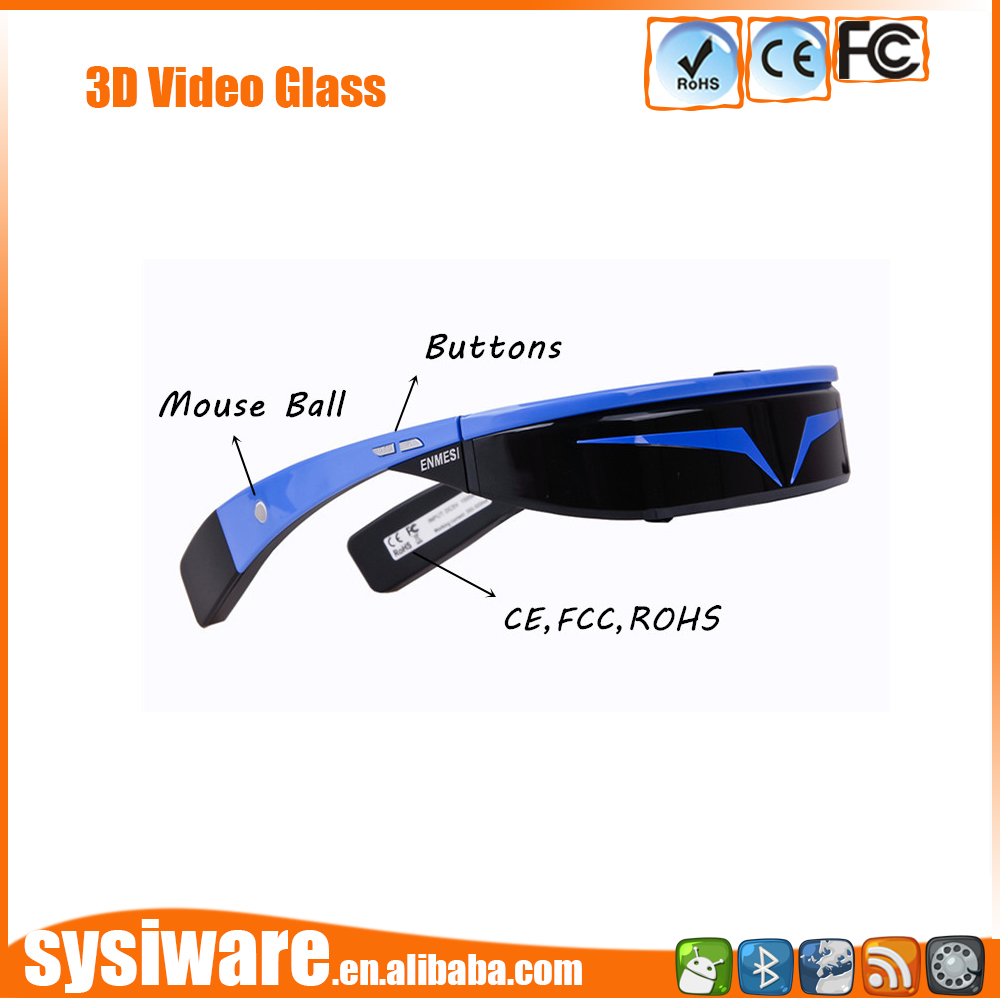 3D Glasses for PC and AV/3D High Quality Video Eyewear with 98inch virtual screen for 3d game and movie