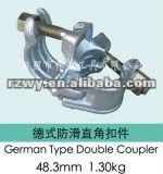 Drop Forged German Type BS1139 Scaffolding Double/Swivel Couplers