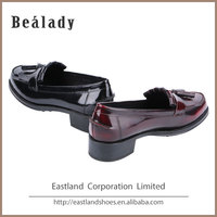 (E09502-2) Europe fashion design lady leather shoes low heel classic loafers office shoes