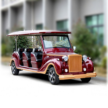 Popular high quality 8 seaters electric classic city tourist shuttle bus for sale