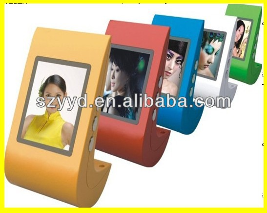 2.4 inch mini digital photo frame with battery power
