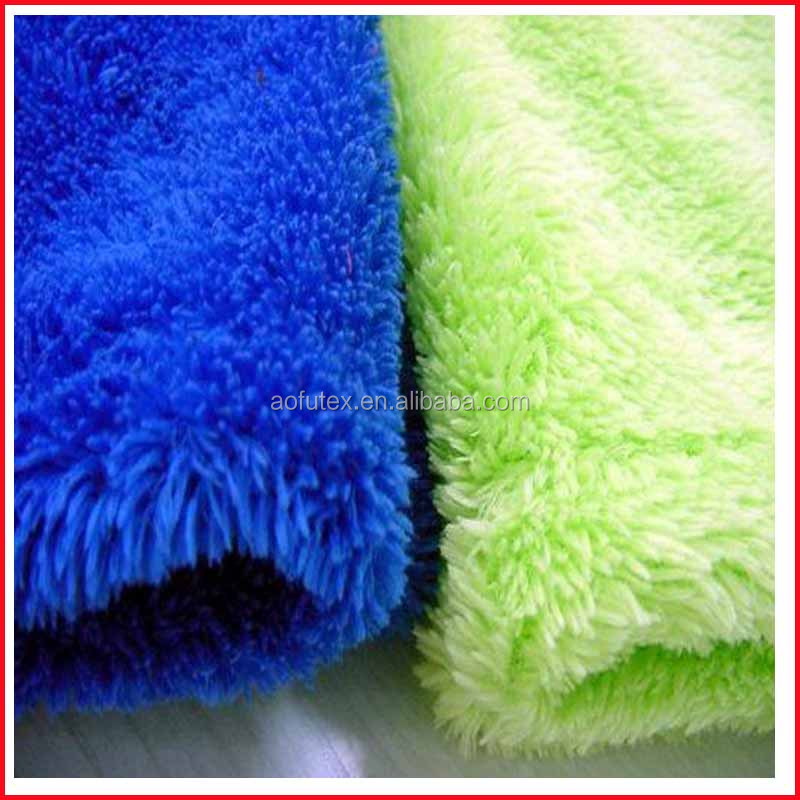 100% polyester blue/yellow coral fleece fabrics