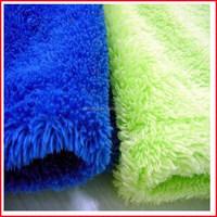 100% polyester blue/yellow coral fleece fabrics