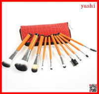 YASH 10pcs makeup brush set best animal hair cosmetic kits