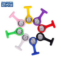 Best Hospital Clip Hanging Pocket Clock Silicone Rubber Nurse Fob Watch