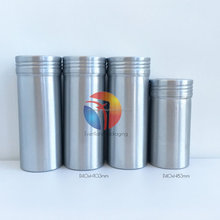 Aluminum round tin screw top cans for Coffee powder/spice