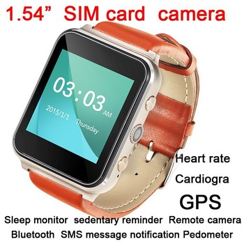 2015 best selling products 1.54 inch luxury hot item GPS location pedometer heart rate monitor cardiogram bluetooth smart watch