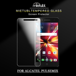 latest model 0.3mm 2.5D high transparency clear mobile phone screen protectors for alcatel pulsemix smartphone screen protector