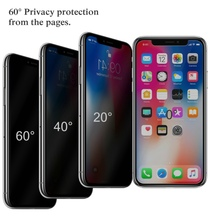 New Design Tempered Glass Anti-Spy Peeping Privacy Screen Protector for iPhone XR