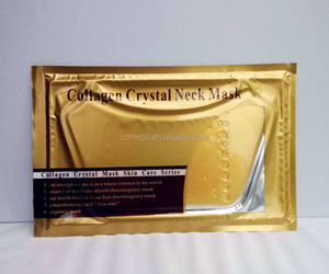 Beauty Salon firm and lift anti ageing gold crystal collagen neck masks cooling gel sheet