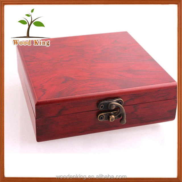 Imitation Red Box Customized COINS Gold And Silver Bars Wood Custom Made In China Gift Jewelry Box Manufacturers China
