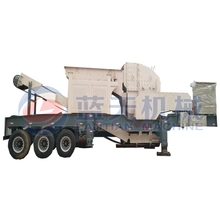 Mini mobile quartz stone sand crusher plant