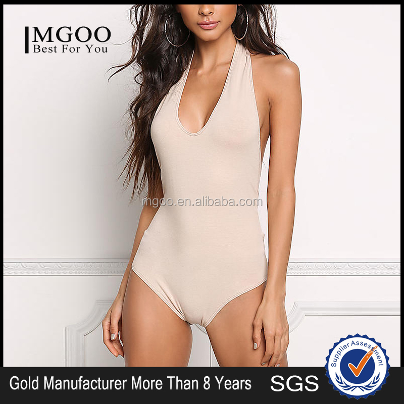 MGOO Custom Made Fashion Bodysuits Plain For Young Girl 2017 New Designs Scoop Neck Sleevless Blouses Tops