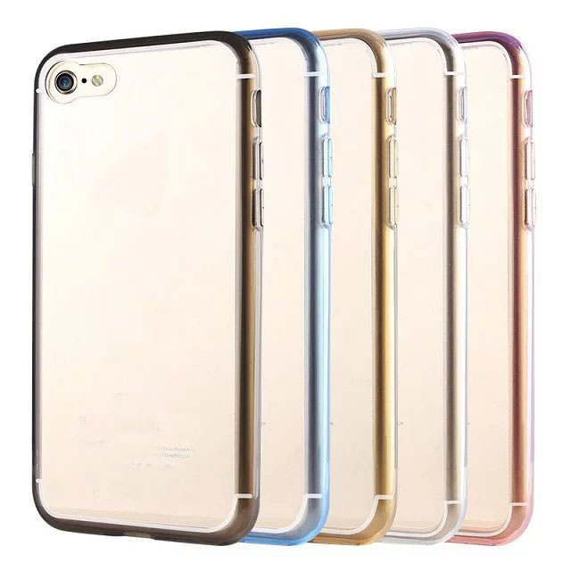 New Arrival Soft Tranparent TPU Acrylic Back Case Cellphone Cover For iPhone 7