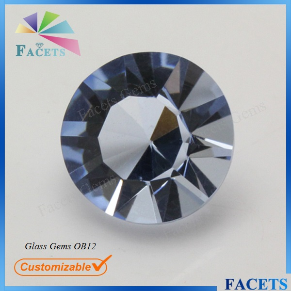 FACETS GEMS Bulk Wholesale Gemstone 6mm Glass Gemstone Round Cut Lavender Semi Precious Stones