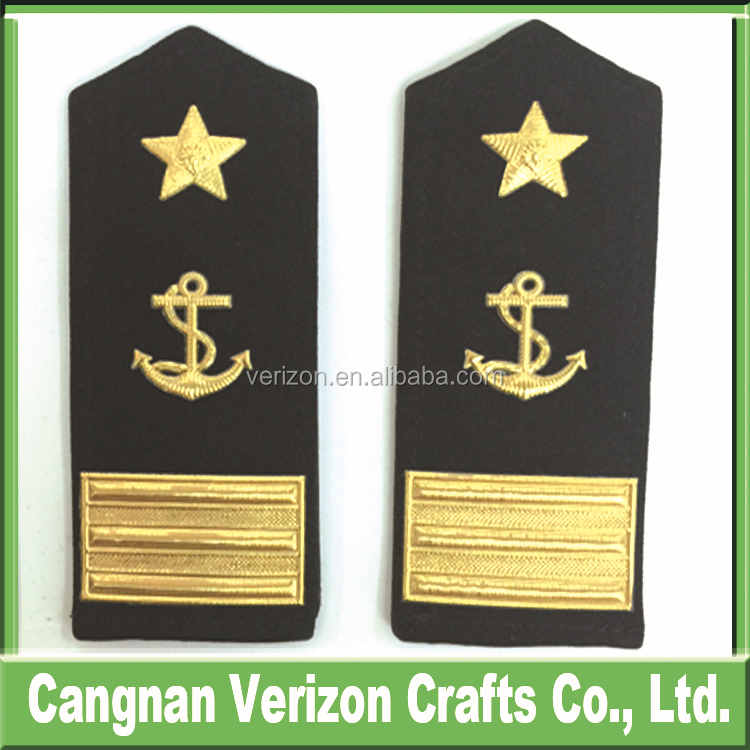 custom design high quality best price navy epaulet, navy shoulder boards