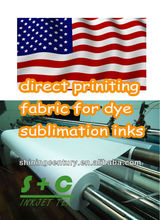 white dye sublimation different types of printing fabric for FR