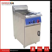 CHINZAO Alibaba Hot New Products For 2017 46L Large Capacity Fried Chicken Gas Conveyor Fryer Without Oil