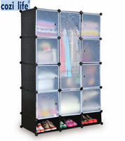 Simple combination DIY storage cube portable pvc plastic foldable wardrobe
