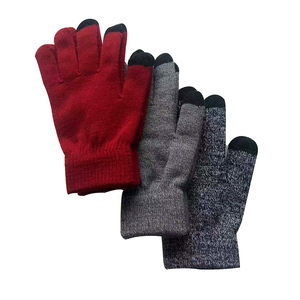 cheap winter knit gloves smart finger touch gloves fiber sensitive touch screen smart phone cheap winter warm gloves