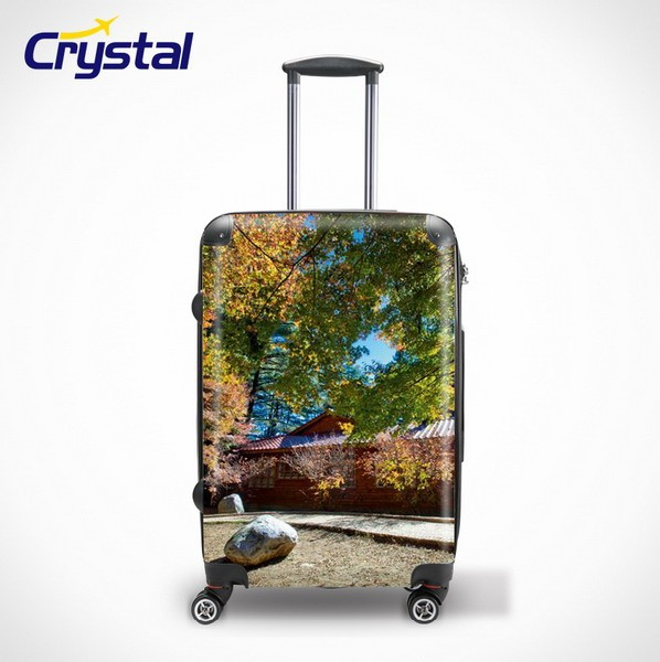ABS+PC Printed Colorful Luggage Trolley Sets with Cheaper Price/Hot Sale 8 Wheels PC Light Weight Luggage Travel Luggage Sets