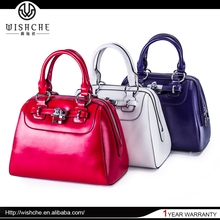 Wishche New Product Custom Cheap Satchel Bags Genuine Leather Women's Bag China Wholesale 2015 Ladies Handbag Manufacturer W1756