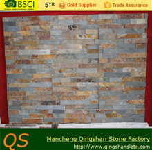 rusty multicolor slate stacked interior stone wall cladding landscape stone