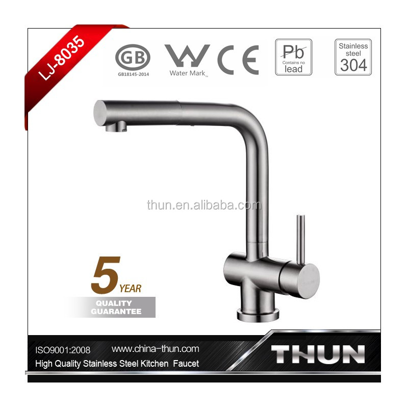 EN817 stainless steel pull out kitchen faucet