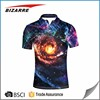 customized pique sublimated 100% polyester polo t-shirt