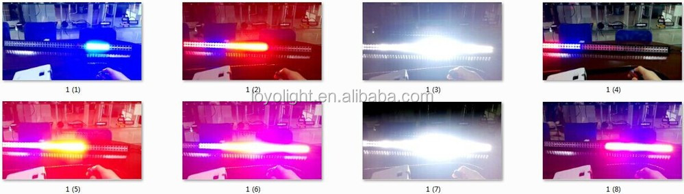 2015 offroad roof accesorios amber blue red and white led light bar flash and strobe light bar