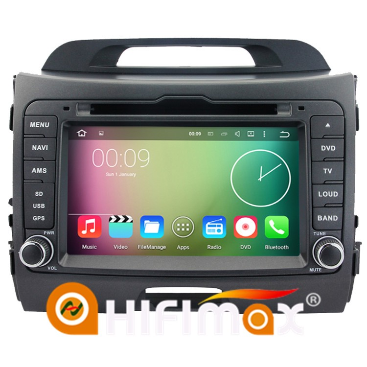 HIFIMAX Android 5.1.1 car mirror link for kia sportage car dvd gps navigation system with dab digital radio